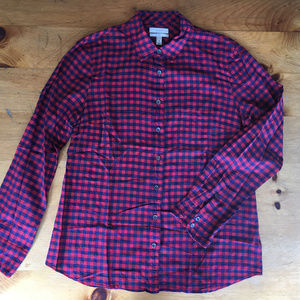 J. Crew l/s buffalo plaid button up shirt